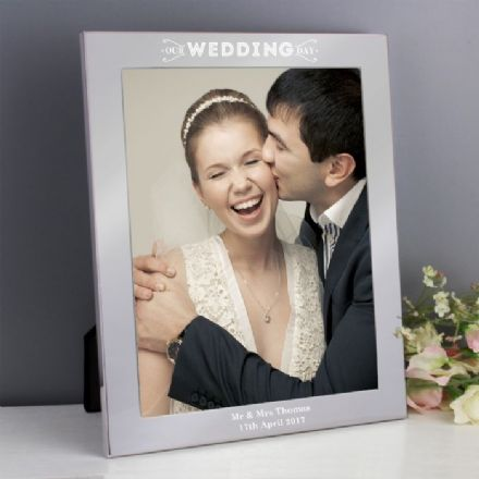 Personalised Our Wedding Day 10x8 Photo Frame